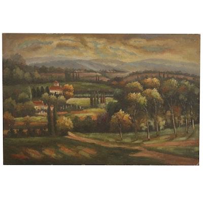 Pastoral Landscape Oil Painting, 2010
