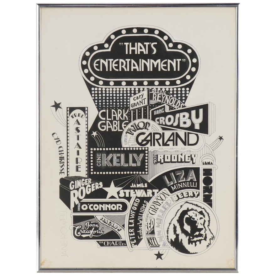 """Marker Drawing after """"That's Entertainment"""" Movie Poster"""