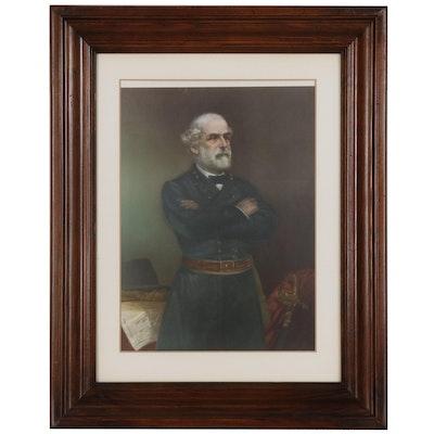 Offset Lithograph after John A. Elder Portrait of General Robert E. Lee