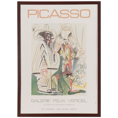 Giclee after Exhibition Poster for Picasso at Galerie Felix Vercel