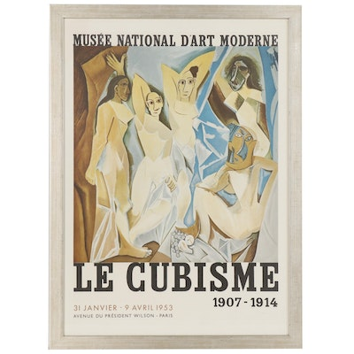 "Lithograph Exhibition Poster for Picasso ""Le Cubisme: 1907-1914"", 1953"