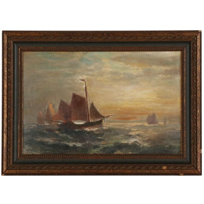 George Herbert McCord Nautical Oil Painting
