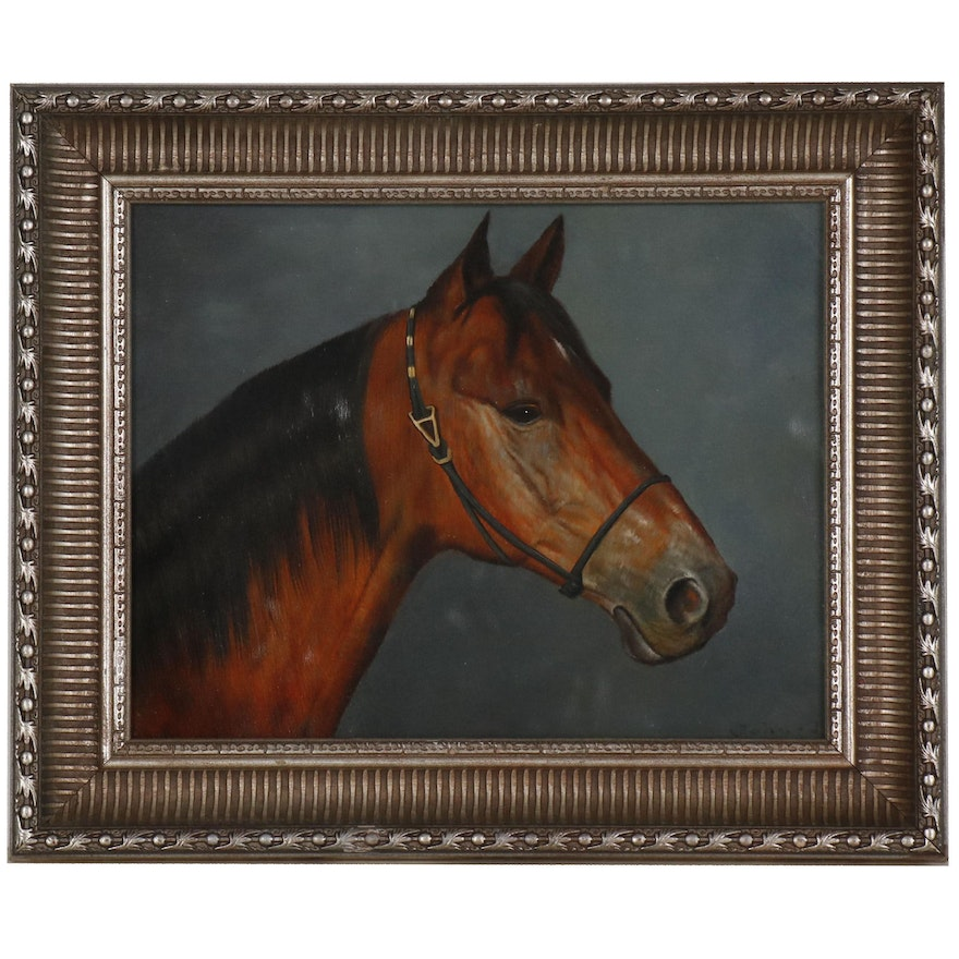"Horse Portrait Oil Painting ""The Noble One"""