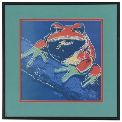 """Offset Lithograph after Andy Warhol """"Endangered Species: Pine Barrens Tree Frog"""""""