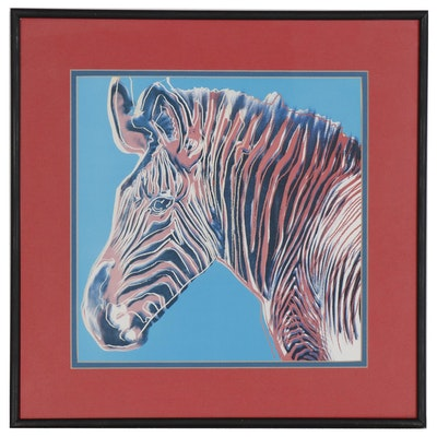 "Offset Lithograph after Andy Warhol ""Endangered Species: Grevy's Zebra"""