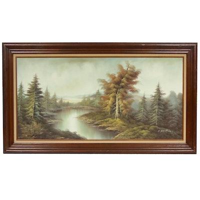 C. Parkins Landscape Oil Painting