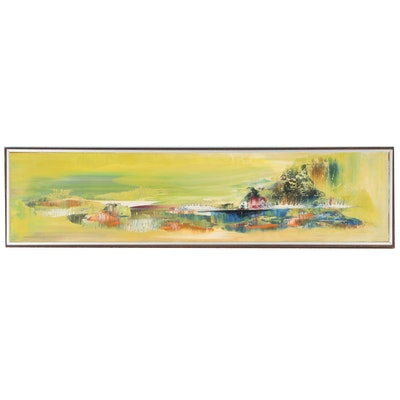 Abstract Oil Painting, 20th Century