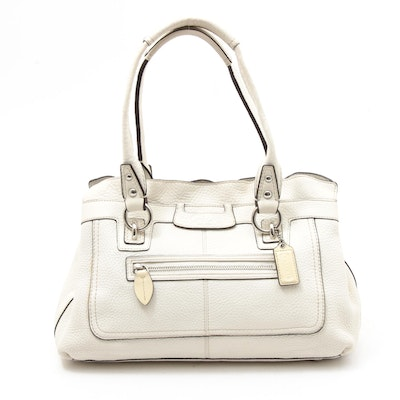 Coach Penelope Winter White Soft Milled Cowhide Pebbled Leather Handbag