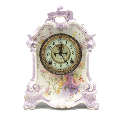 Ansonia Clock Co. Eight Day Porcelain Mantle Clock