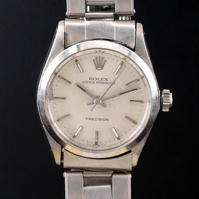 Vintage Rolex Oyster Speed King Stainless Steel Stem Wind Wristwatch, 1966