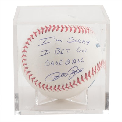 "Pete Rose Signed ""I'm Sorry I Bet On Baseball"" Rawlings Ball, PSA COA"