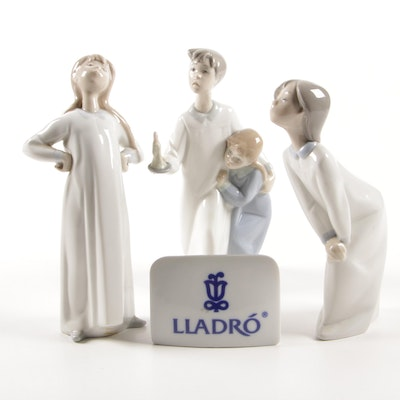 "Lladró ""Girl with Arms Akimbo"" by Fulgencio García and Other Lladró Figurines"