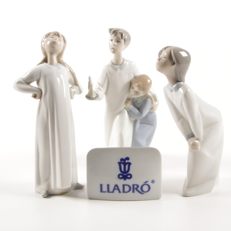 """Lladró """"Girl with Arms Akimbo"""" by Fulgencio García and Other Lladró Figurines"""