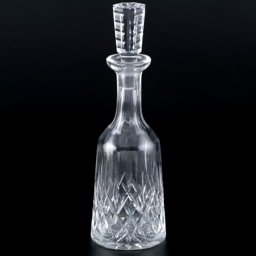 """Waterford Crystal """"Lismore"""" Wine Decanter with Stopper, Late 20th Century"""