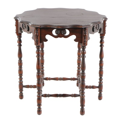 Jacobean Style Mahogany Center Table, circa 1920