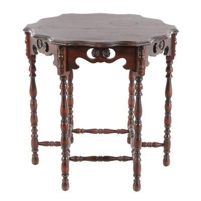 Jacobean Style Mahogany Center Table, circa 1920
