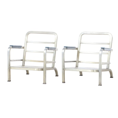 U.S. Chaircraft Pair of Aluminum Armchair Frames, circa 1964