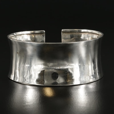 850 Silver Anticlastic Cuff Bracelet