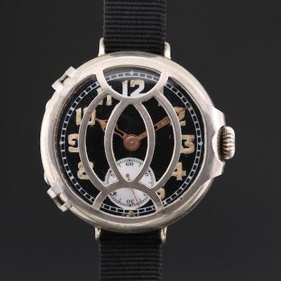 Antique Vogt & Co. Swiss Stem Wind Trench Watch