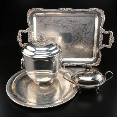 Roger Smith & Co., Lunt and Other Silver Plate Serveware, Mid-20th Century