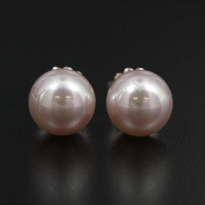 Majorica Sterling Silver Pearl Earrings