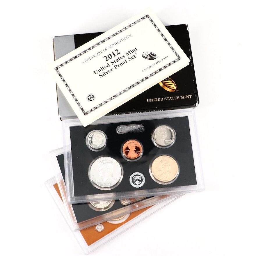 Key Date 2012 U.S. Mint Silver Proof Set