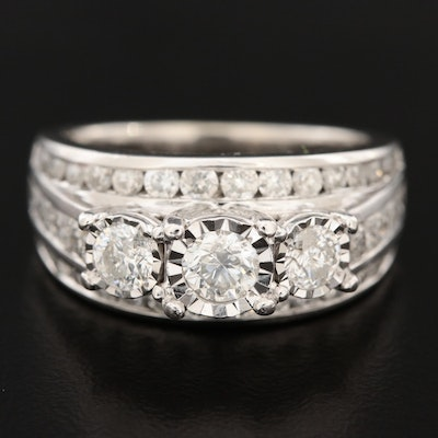 10K White Gold 1.98 CTW Diamond Ring