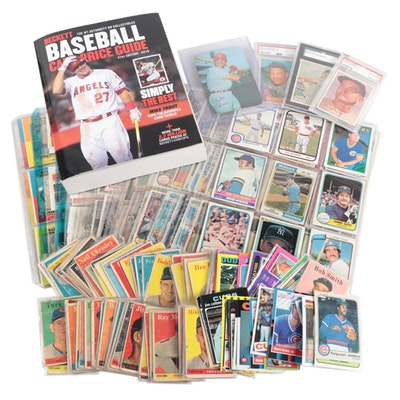 1950s-1990s Baseball Trading Cards with 2019 Beckett Price Guide