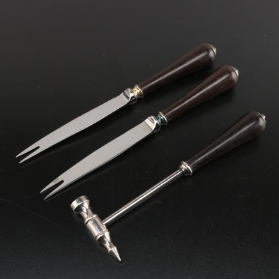 Christofle Ebony Handled Hammer and Relish Knives