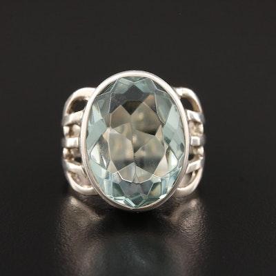 Sajan Sterling Silver Open Shank Ring