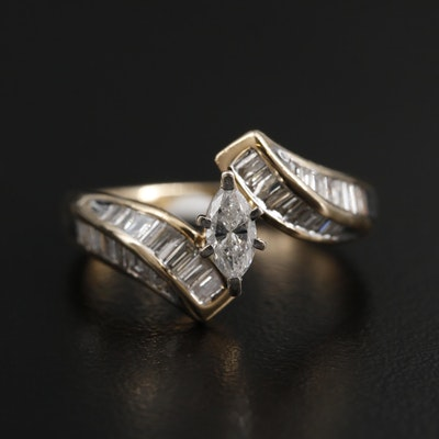 14K Yellow Gold 0.95 CTW Diamond Ring