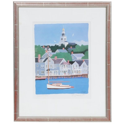 "Robert Elliott Kennedy Offset Lithograph ""Nantucket"""