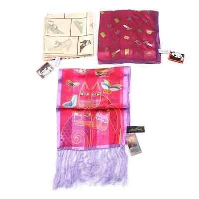 Andy Warhol Brand and Laurel Burch for Sun 'N' Sand Silk Scarves