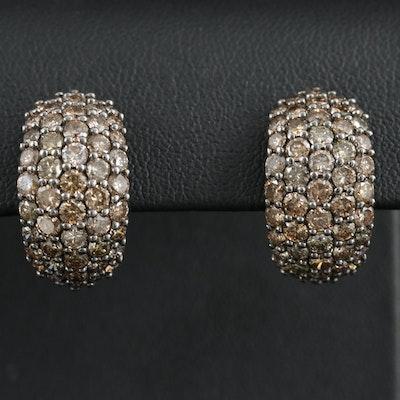 18K White Gold 3.02 CTW Diamond Earrings