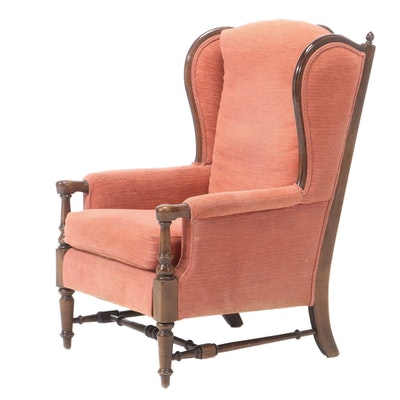 French Provincial Style Wingback Chair, Mid-20th Century