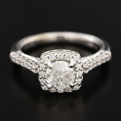Verragio 14K White Gold 1.32 CTW Diamond Ring