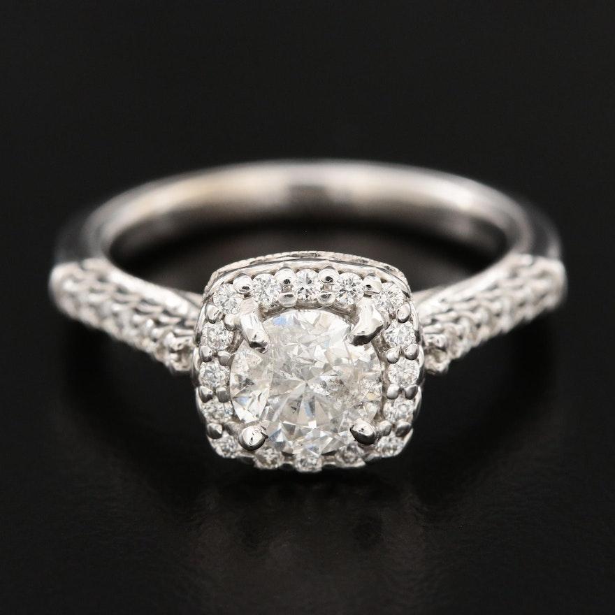 Verragio 14K White Gold 1.32 CTW Diamond Ring