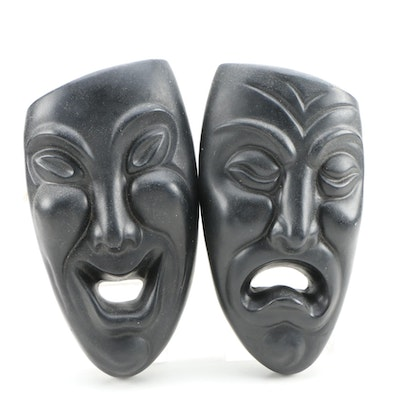 Chalkware Comedy and Tragedy Masks