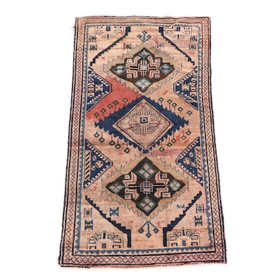 3'9 x 7'3 Hand-Knotted Persian Yalameh Wool Long Rug