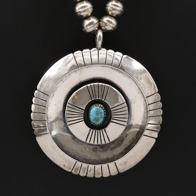Charlie Mike Yazzie Navajo Diné Sterling Turquoise Necklace