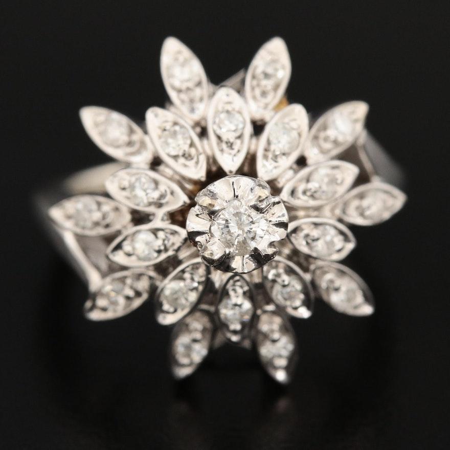 14K White Gold Diamond Ring