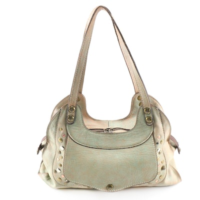 Patricia Nash Ergo Studded Leather Shoulder Bag