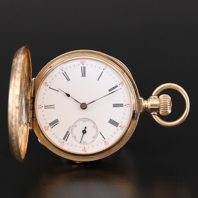 Antique Patek Philippe & Co. 18K Gold Hunting Case Pocket Watch