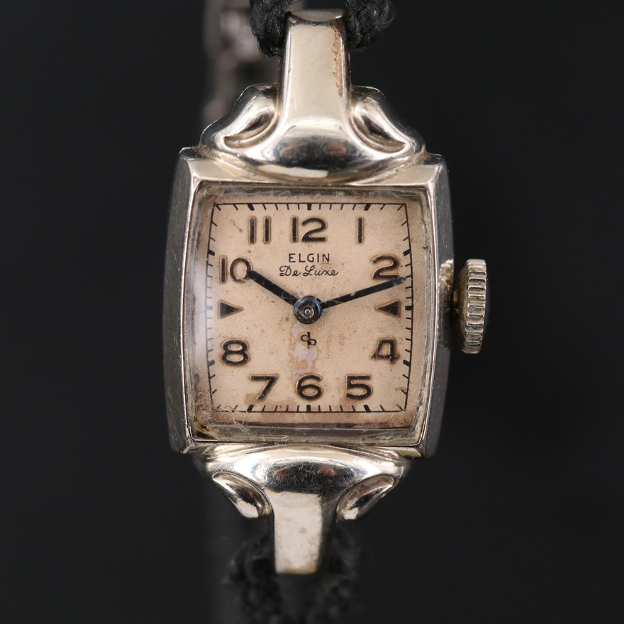 Vintage Elgin 10K Gold Filled Stem Wind Wristwatch