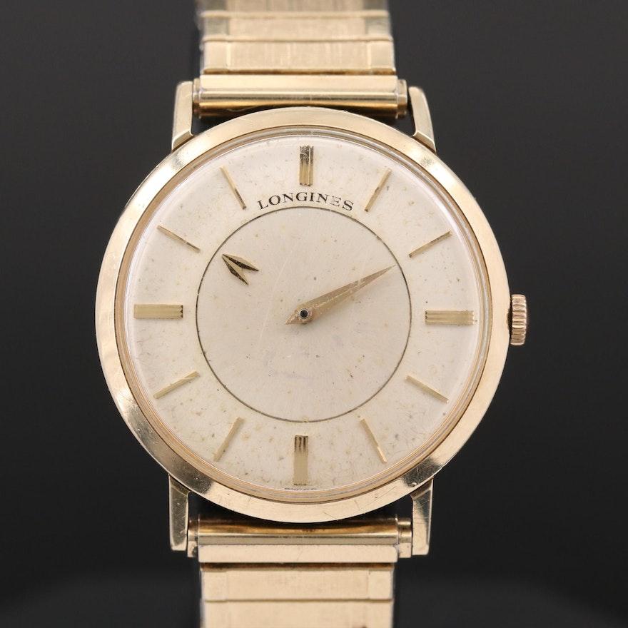 Vintage Longines Mystery Dial 10K Gold Filled Stem Wind Wristwatch