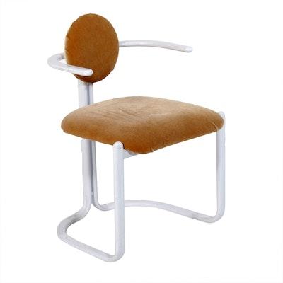 Gastone Rinaldi for Thema Italy Postmodern Velveteen-Upholstered Armchair
