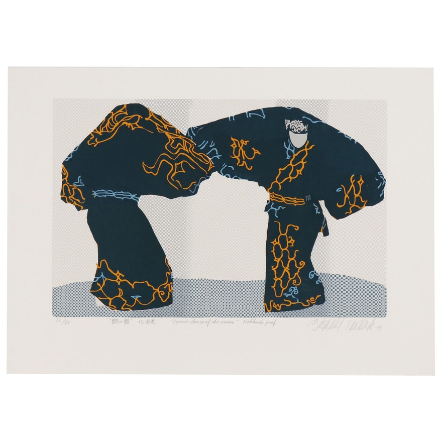 "Masaaki Tanaka Serigraph ""Ainn's Dance of the Crane"", 1979"
