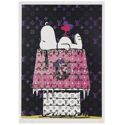 """Death NYC Offset Lithograph """"AE Snoop Purple"""""""