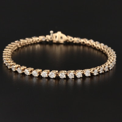 14K Yellow Gold 3.95 CTW Diamond Line Bracelet