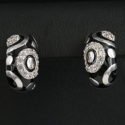Belle Étoile Sterling Silver Cubic Zirconia Earrings